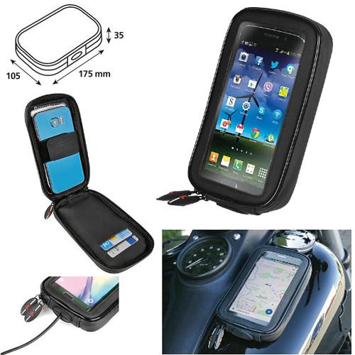 PORTA SMARTPHONE / GPS PER MOTO CON ATTACCO MAGNETICO AL SERBATOIO