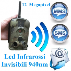 Fototrappola LTL ACORN 5210MG GPRS Hunting Camera 5210MM 5210MMS Trial Scouting Scout Invio SMS MMS E-MAIL Ir led infrarossi 940nm Invisibili Batteria 6 Mesi Waterproof