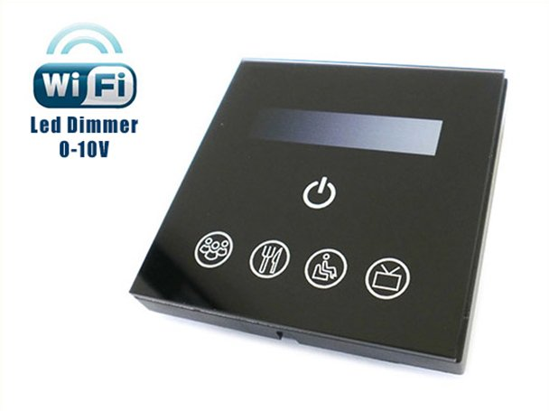 Led Dimmer Segnale 0-10V 220V 200W Touch Panel WiFi Interfacciabile Con Iphone Smartphone Android TM113